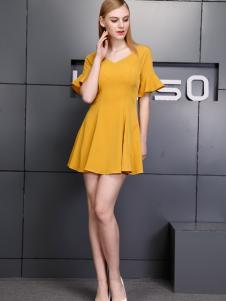 依然秀17夏时尚新款甜美连衣裙