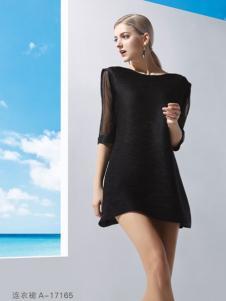 丹妮丽人黑色连衣裙新品