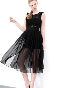 依然秀17夏时尚新款经典小黑裙