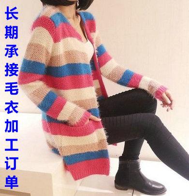 兔绒毛芯纱毛衣加工厂