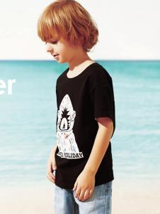 梦多多黑色T恤