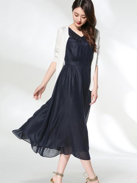 适时雅集17夏新款唯美连衣裙