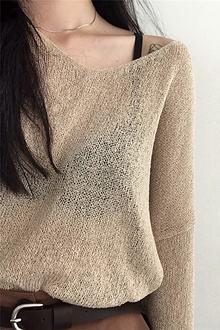 夏季薄款镂空毛衫加工热天穿凉爽毛衣厂家