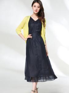 适时雅集17夏新款优雅连衣裙