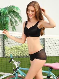 丹蓓姿2017春夏新品黑色抹胸式内衣