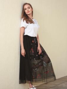 莎斯莱思2017年新款网纱裙