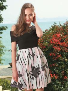 莎斯莱思2017年夏季印花短裙