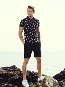 莎斯莱思2017男装新款T恤