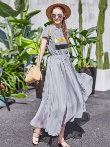 阿莱贝琳2017新款收腰长裙