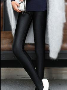 千百丝女裤黑色紧身打底裤