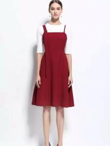 HelenModa女装2017春夏新品吊带裙