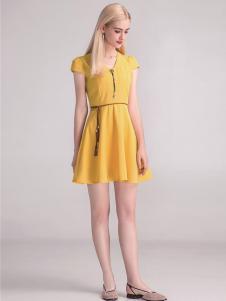 淑女日记黄色连衣裙