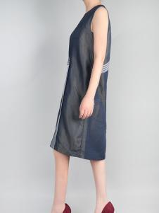 零时尚无袖拼接牛仔裙17夏款