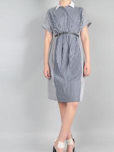 零时尚新款时尚拼接连衣裙