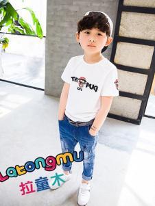 拉童木2017春夏新品白色T恤