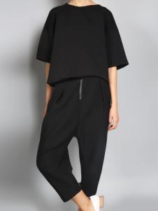 零时尚17黑色简约套装