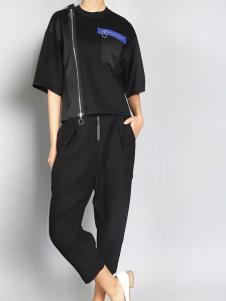 零时尚买手品牌女装17黑色T恤