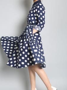 零时尚买手品牌女装17波点连衣裙