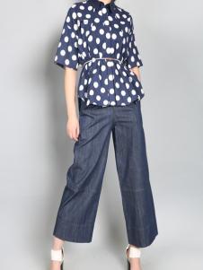 零时尚买手品牌女装17春波点衬衫