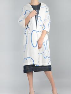 零时尚买手品牌17春印花外套