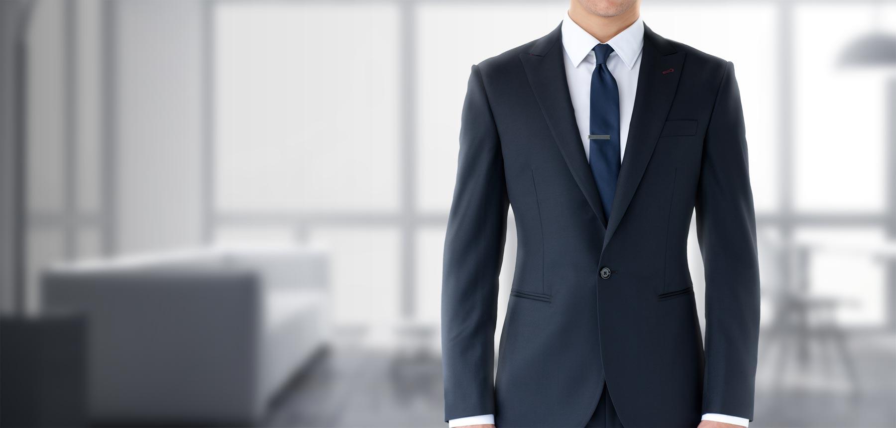 高级定制服装加工厂,黑色西装配什么领带
