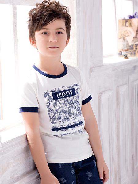 泰迪珍藏白色T恤