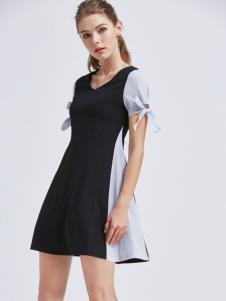 摩兰度女装摩兰度2017春夏新品拼接女裙