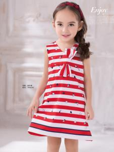 泰迪珍藏女童条纹连衣裙