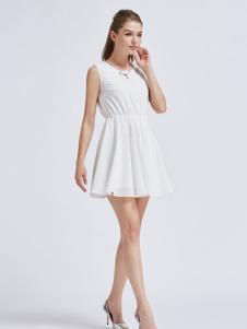 摩兰度女装摩兰度2017春夏新品无袖连衣裙