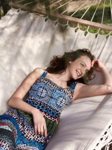 伊布都17夏新款波西米亚风长裙