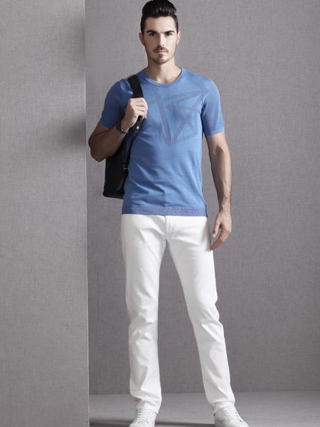 巴鲁特17夏新款浅蓝色T恤
