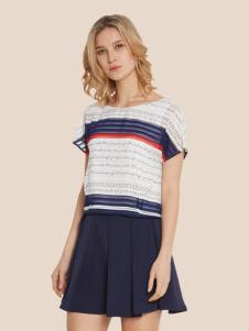 宠爱女人2017春夏新品条纹T恤
