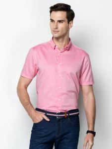 袋鼠男装17夏时尚衬衫