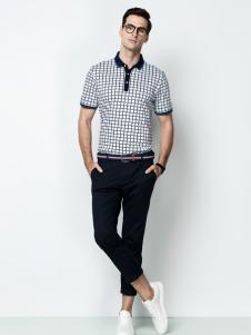 袋鼠男装17夏新款时尚polo衫