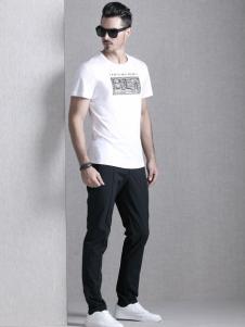 巴魯特17夏新款白色T恤
