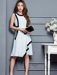 艾米女装白色连衣裙