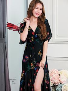 艾米女装碎花连衣裙