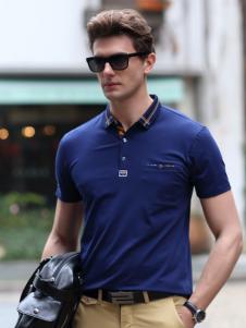Legend Paul传奇保罗2017春夏新品蓝色Polo衫