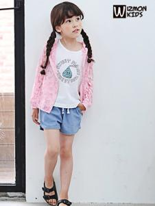 蓝角兽童装新款粉色外套