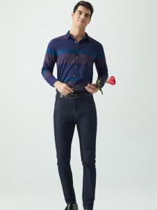 Legend Paul传奇保罗2017春夏新品条纹衬衫