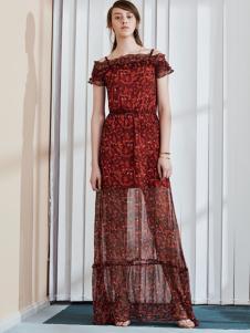 奥伦提17夏新款时尚连衣裙长款