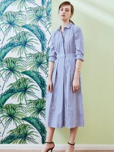 奥伦提17夏新款衬衫连衣裙