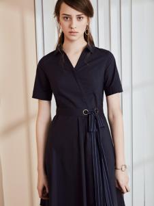 奥伦提17夏新款时尚小黑裙