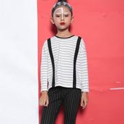 小猪芭那童装2017新品 简约白T的简约时尚