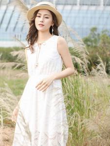Kaernuo卡尔诺女装新款无袖修身连衣裙