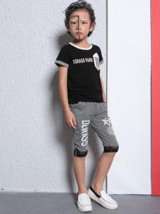 小猪芭那童装小猪芭那2017春夏新品黑色T恤