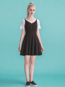 淑女日记黑色连衣裙