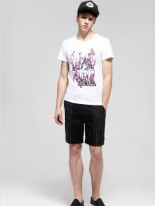 2017佐纳利男士白色T恤