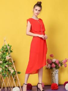 戴莉格琳红色连衣裙