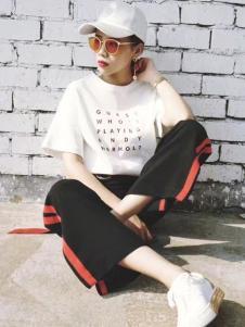 枺上女装2017春夏新品白T